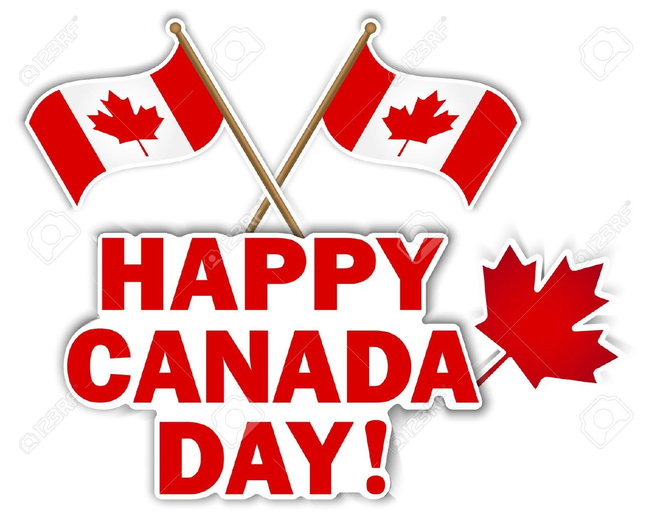 14169671-Canada-Day-stickers-with-maple-leaf-and-flags-illustration--Stock-Vector